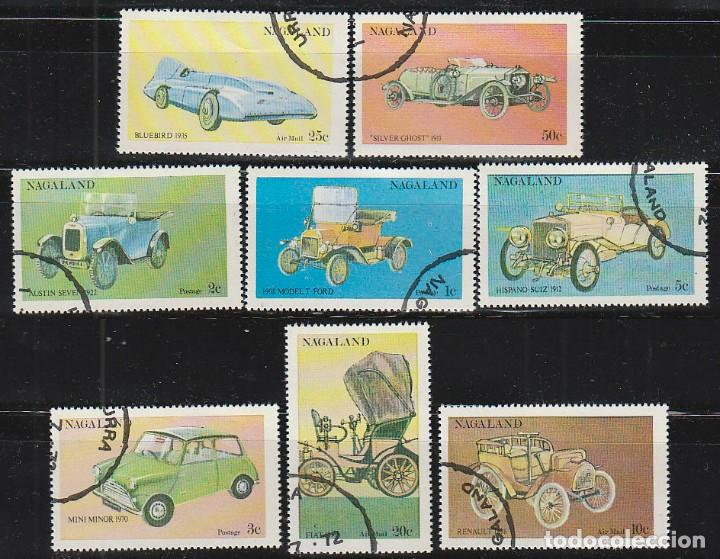 NAGALAND, VEHICULOS ANTIGUOS HISTORICOS, USADO (SERIE COMPLETA) (Sellos - Temáticas - Automóviles)