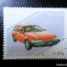 Sellos: *LAOS, 1987, AUTOMÓVILES. Lote 288068463