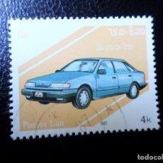 Sellos: *LAOS, 1987, AUTOMÓVILES. Lote 288068638
