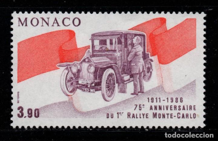 MONACO 1534** - AÑO 1986 - AUTOMOVILES - 75º ANIVERSARIO DEL RALLY AUTOMOVILISTICO DE MONTECARLO (Sellos - Temáticas - Automóviles)