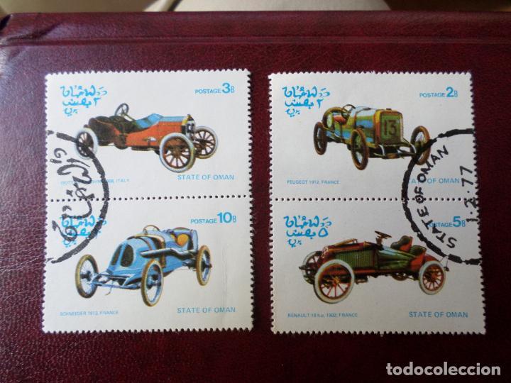 +OMAN, 1977, COCHES ANTIGUOS (Sellos - Temáticas - Automóviles)