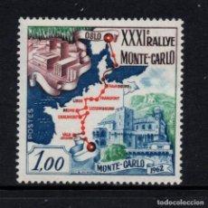 Sellos: MONACO 575** - AÑO 1962 - RALLY AUTOMOVILISTICO DE MONACO. Lote 289882143