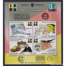 Sellos: ⚡ DISCOUNT URUGUAY 1998 INTERNATIONAL STAMP EXHIBITION IBRA 99 MNH - CARS, COINS ON STAMPS,. Lote 289963853