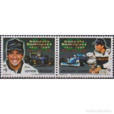 Sellos: ⚡ DISCOUNT URUGUAY 2000 THE 1ST ANNIVERSARY OF THE DEATH OF GONZALO RODRIGUEZ MNH - CARS, RA. Lote 289982128