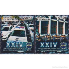 Sellos: ⚡ DISCOUNT SALVADOR 2016 THE 24TH ANNIVERSARY OF THE NATIONAL POLICE FORCE MNH - CARS, POLIC. Lote 289984888