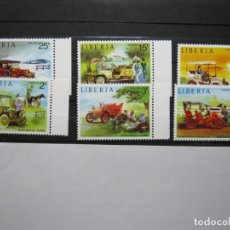 Sellos: LIBERIA 1973 COCHES ANTIGUOS YVERT 617/622 MNH SIN CHARNELA LUJO!!!. Lote 292224673