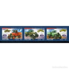 Sellos: ⚡ DISCOUNT RUSSIA 2007 THE FIRST RUSSIAN LORRIES MNH - CARS, TRUCKS. Lote 296032398