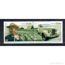 Sellos: ⚡ DISCOUNT CUBA 2012 TOBACCO PRODUCTION - ALEJANDRO ROBAINA MNH - CARS, TOBACCO. Lote 296033288
