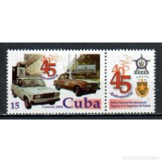 Sellos: ⚡ DISCOUNT CUBA 2004 THE 45TH ANNIVERSARY OF THE STATE SECURITY DEPARTMENT MNH - CARS, POLIC. Lote 296034043