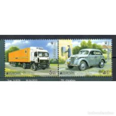 Sellos: ⚡ DISCOUNT UKRAINE 2013 EUROPA STAMPS - POSTAL VEHICLES MNH - CARS, TRUCKS, POST OFFICE, POS. Lote 296044918