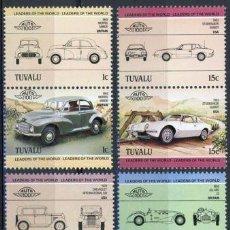 Sellos: TUVALU 1984 IVERT 279/86 *** AUTOMÓVILES ANTIGUOS 1ª SERIE - COCHES. Lote 296689523