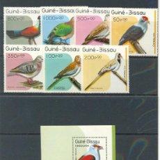 Sellos: GUINEA BISSAU 1989 FAUNA PAJAROS 7 SELLOS +HB - YVERT 507/513** HB - 66**. Lote 24619867