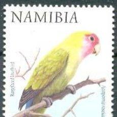 Sellos: NAMIBIA, AGAPORNIS ROSEICOLLIS, SELLO NUEVO ***. Lote 119197618