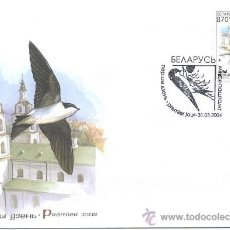 BIELORRUSIA 2004. PRIMER DIA CIRCULACION. PAJAROS. AVION COMUN