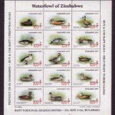 Sellos: ZIMBABWE BENEFICENCIA ** - AÑO 1999 - PRO TUBERCULOSOS - FAUNA - AVES - PATOS DE ZIMBABWE. Lote 21506507