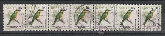 KENYA RARA TIRA DEL TEMA PAJAROS (Sellos - Temáticas - Aves)