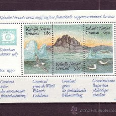 Sellos: GROENLANDIA HB 1*** - AÑO 1987 - EXPOSICION FILATELICA MUNDIAL HAFNIA 87 - FAUNA - AVES. Lote 22668302