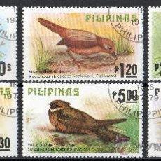 Sellos: FILIPINAS AÑO 1979 YV 1110/15*º AVES - FAUNA - NATURALEZA. Lote 26931204