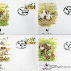 Sellos: HUNGRÍA AÑO 1994 YV 3449/52 SPD - WWF - CONSERVACIÓN DE LA FAUNA - AVES - NATURALEZA. Lote 27253316