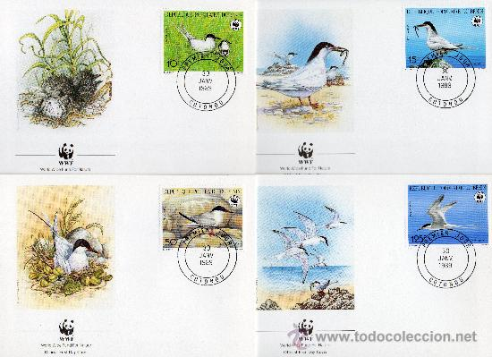 BENÍN AÑO 1989 YV 669/72 MI 476/79 - SPD - WWF - CONSERVACIÓN DE LA FAUNA - AVES (Sellos - Temáticas - Aves)