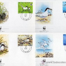 Sellos: BENÍN AÑO 1989 YV 669/72 MI 476/79 - SPD - WWF - CONSERVACIÓN DE LA FAUNA - AVES. Lote 27299090