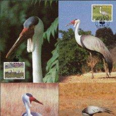 Sellos: MALAWI AÑO 1987 YV 489/92 TMX - WWF - CONSERVACIÓN DE LA NATURALEZA - FAUNA - AVES. Lote 27299092