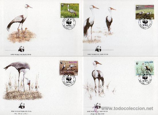 MALAWI AÑO 1987 YV 489/92 SPD - WWF - CONSERVACIÓN DE LA FAUNA - AVES (Sellos - Temáticas - Aves)