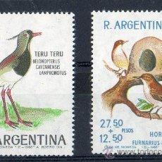 Sellos: ARGENTINA AÑO 1966 YV 732+A113*** PRO INFANCIA - CORREO AEREO - AVES - NATURALEZA. Lote 23283382