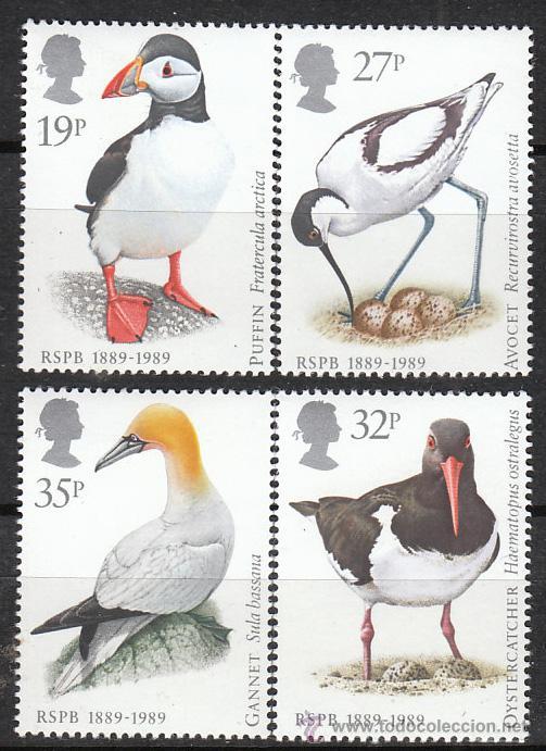 INGLATERRA IVERT 1363/6, CENTENARIO DE LA SOCIEDAD REAL DE PROTECCIÓN DE LOS PÁJAROS, NUEVO (Sellos - Temáticas - Aves)