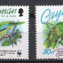 Sellos: ISLAS CAYMAN AÑO 1993 YV 718/21*** WWF - LOROS - AVES - FAUNA - NATURALEZA. Lote 27433487