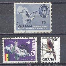 Sellos: GHANA, AVES, USADOS. Lote 25184549