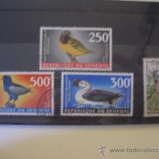 Sellos: 4 SELLOS DE SENEGAL. 3 DE AVES,PAJAROS. . Lote 26887595