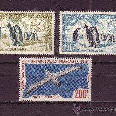Sellos: TIERRAS AUSTRALES Y ANTARTICAS FRANC. AEREO 2/4*** - AÑO 1956 - FAUNA - AVES MARINAS. Lote 14156717