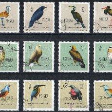 Sellos: POLONIA AÑO 1960 YV 1070/81 *º AVES - FAUNA - NATURALEZA. Lote 29853772