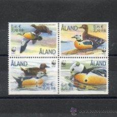 Sellos: ALAND-FINLANDIA=YVERT=183/86=AVES MARINAS=SIN FIJASELLO=CATALOGO +5,40 €=REF:0189. Lote 35306868