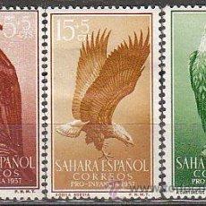 Sellos: AHARA EDIFIL Nº 139/41, AGUILA REAL Y POMARINA, PRO INFANCIA 1957, NUEVO CON SEÑAL DE CHARNELA. Lote 35861958