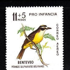 Sellos: ARGENTINA AÉREO 96** - AÑO 1963 - FAUNA - AVES - PRO OBRAS PARA LA INFANCIA. Lote 42467772