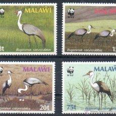 Sellos: MALAWI AÑO 1987 YV 489/92*** AVES - FAUNA - CONSERVACIÓN DE LA NATURALEZA - WWF. Lote 45269221