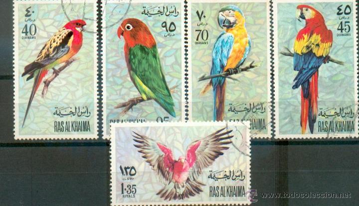 AVES .- SERIE DE RAS AL KHAIMA (Sellos - Temáticas - Aves)