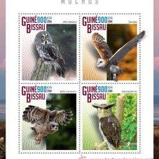Sellos: GUINEA BISSAU 2014 BUHOS. Lote 47258582
