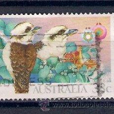 Sellos: KOOKABURRA: PÁJAROS DE AUSTRALIA. AÑO 1990. Lote 53890909