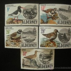 Sellos: ALDERNEY 1984 IVERT 13/17 *** FAUNA - AVES. Lote 50061003