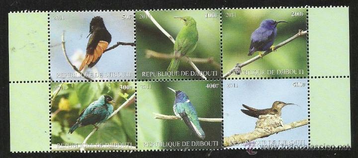 DJIBOUTI 2011 HOJA BLOQUE SELLOS TEMATICA FAUNA AVES- PAJAROS- BIRDS (Sellos - Temáticas - Aves)