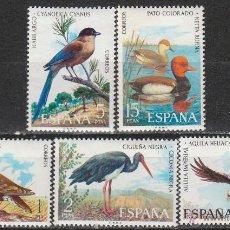Sellos: EDIFIL Nº 2134/8, FAUNA HISPÁNICA: CIGÜEÑA. ÁGUILA, PATO COLORADO, RABILARGO Y ORTEGA, NUEVO *** (SE. Lote 131183132