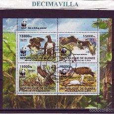 Sellos: L729, GUINEA, 2013, AGUILAS, WWF. Lote 57092009