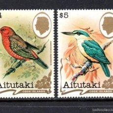 Sellos: AITUTAKI 326/27** - AÑO 1982 - FAUNA - AVES . Lote 57636731