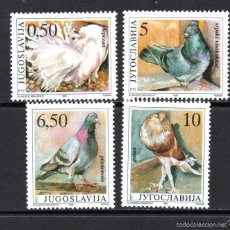 Sellos: YUGOSLAVIA 2294/97** - AÑO 1990 - FAUNA - AVES - RAZAS DE PALOMAS. Lote 61232575