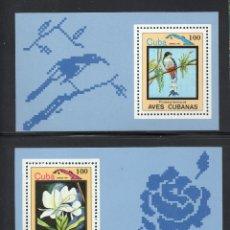 Sellos: CUBA HB 78/79** - AÑO 1983 - FAUNA Y FLORA - AVES - FLORES. Lote 64818239