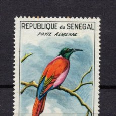 Sellos: SENEGAL AEREO 31** - AÑO 1960 - FAUNA - AVES. Lote 86895340
