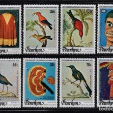 Sellos: PENRHYN 89/96** - AÑO 1978 - FAUNA - AVES - ARTESANIA. Lote 90397095